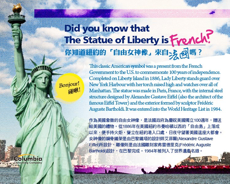 自由女神來自法國? Did you know that The Statue of..