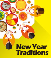 各國的新年習俗 New Year Traditions From..