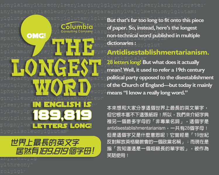世上最長的英文單.. OMG: The Longest Word in English Is ..
